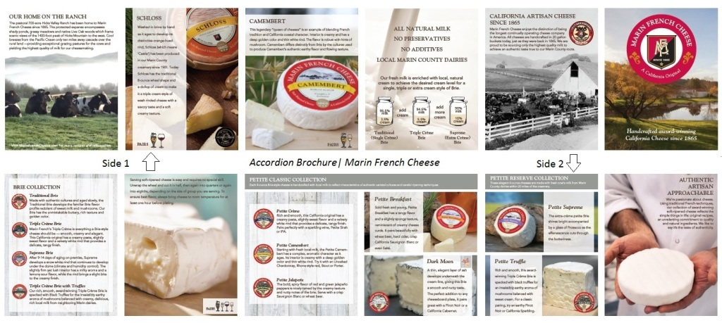 Marin French Cheese Accordion Brochure- Both sides